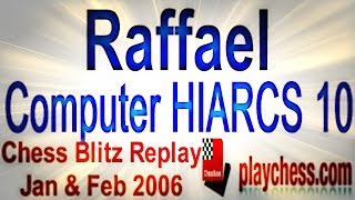 ? Garry Kasparov (Raffael) vs Comp HIARCS 10 ? Man vs Machine/Chess Blitz Replay/ Playchess.com 2006