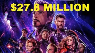 First Box Office Report $27.79 Million Avengers Endgame From China