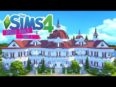The Sims 4 -Speed Build- Edwardian Beach Hotel! (Part 1/2) - No CC -