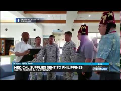 Philippines Navy Visits Shriners Hospitals For Children—Honolulu