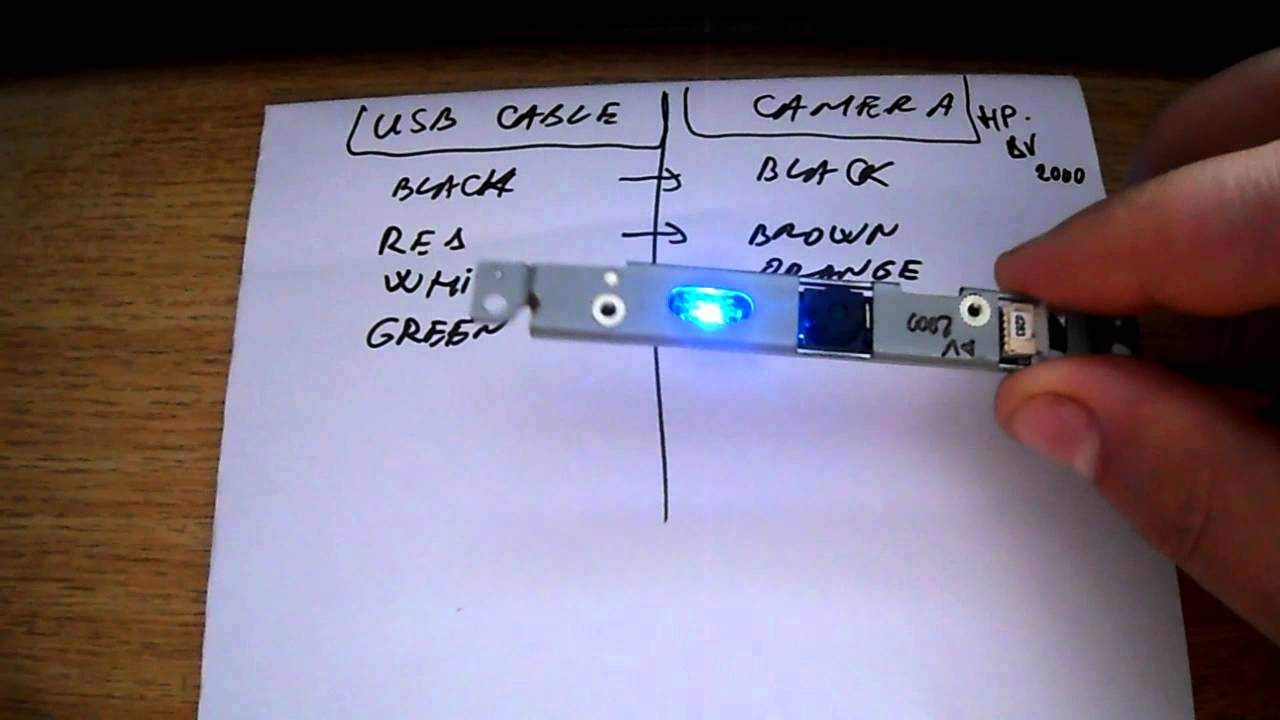 Laptop Camera Wiring Diagram Schematics Usb Charger Wire Transform A Into Web Cam Youtube