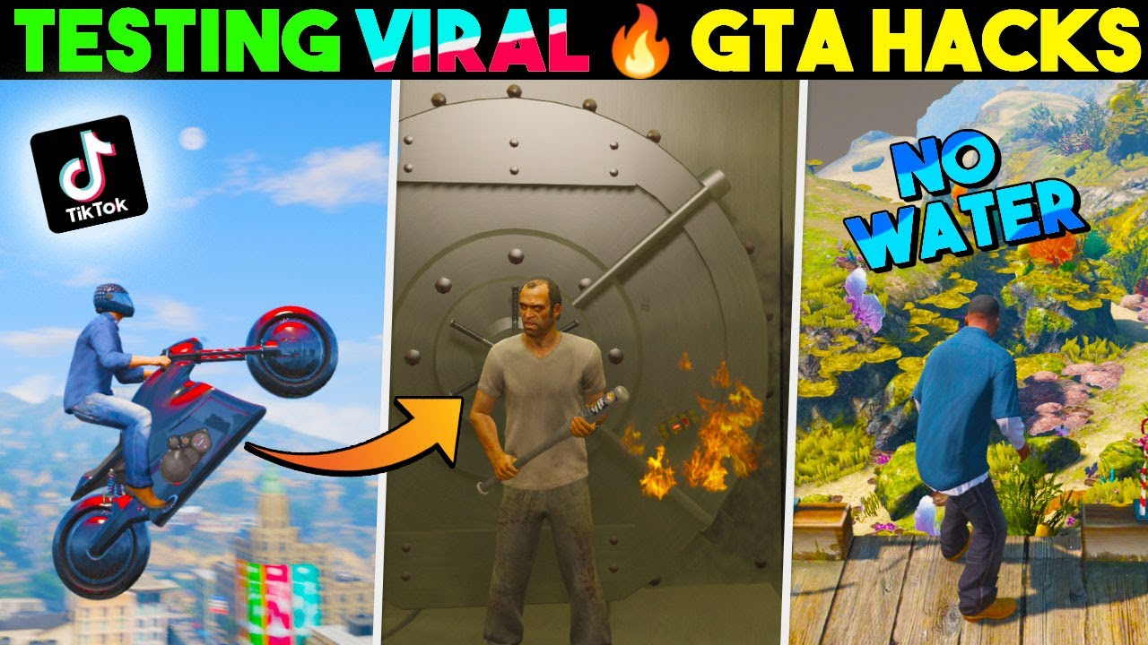 Trying Viral TikTok Hacks in GTA V... They WORKED 😱 #1
