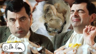BEAN Eating OYSTERS For XMAS   CHRISTMAS BEAN   Mr Bean's Holiday   Mr Bean Official
