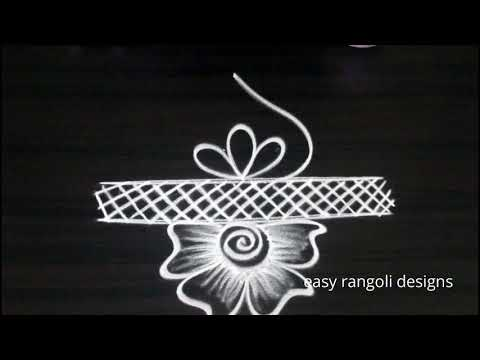 easy & simple kolam  * latest rangoli designs * small free hand muggulu