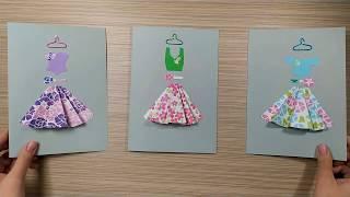 як зробити листівку у вигляді сукні