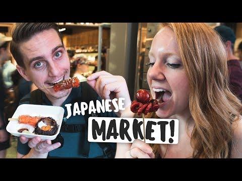 JAPANESE STREET FOOD TOUR! - Nishiki Market (Kyoto, Japan)