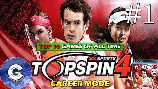 Let's Play Top Spin 4 | Career Mode #1 | Australian Open | 2nd Round