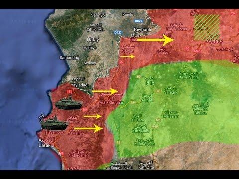 Syrian Army Move Forward in Latakia