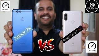 Download Video Xiaomi Redmi Note 5 Pro VS HONOR 7X Speedtest & Comparison In Hindi MP3 3GP MP4