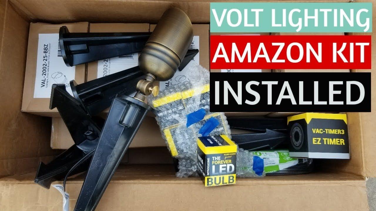 volt landscape lighting kit landscape lighting installation 6 spotlight brass led starter kit