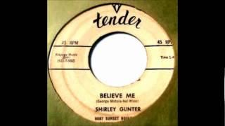 Gunter, Shirley (& Grp) - Crazy Little Baby - 57 Tender 503.wmv
