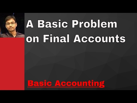 A Problem on Final Accounts (Hindi)