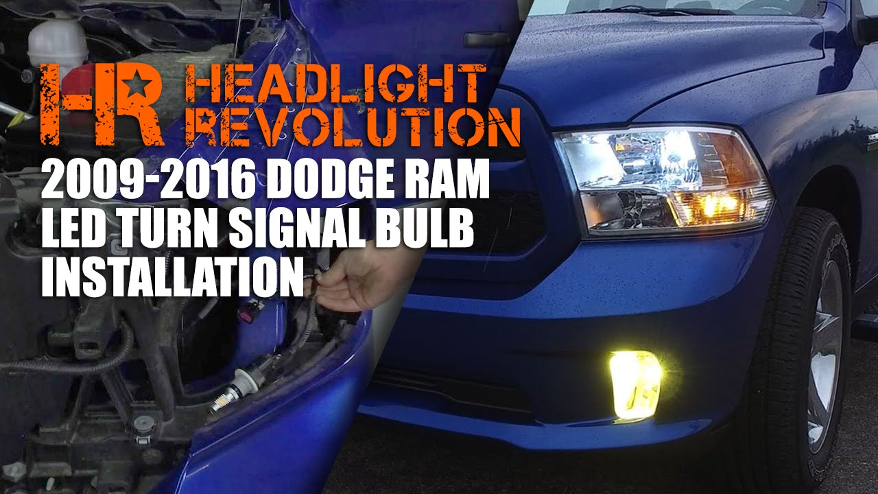 installing led turn signal bulbs in the 09 16 ram headlight revolution [ 1280 x 720 Pixel ]