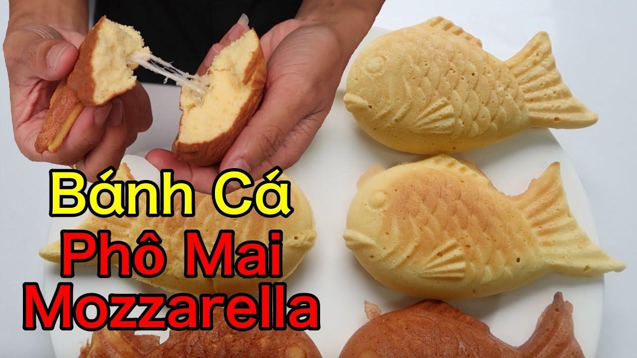 Lâm Vlog - Làm Bánh Cá Taiyaki Nhật Bản Đơn Giản Tại Nhà | Bánh Cá Phô Mai Mozzarella