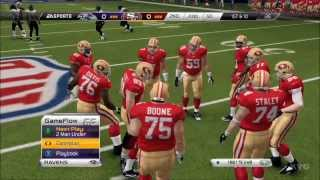 Madden NFL 25 - San Francisco 49ers  vs. Ravens | Super Bowl Gameplay [HD]