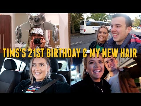 Tim's 21st, My new hair & Present opening! 🎁🎂 | EmmasRectangleVlogs