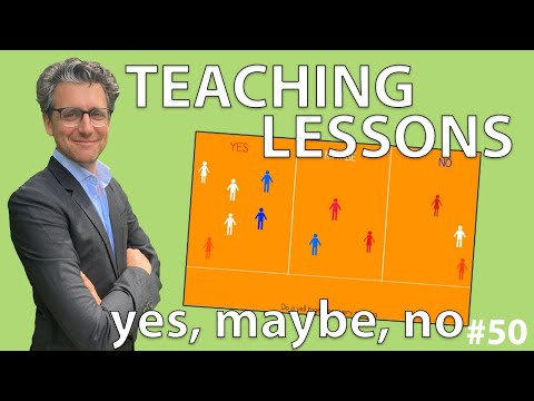 Teaching Lessons - Yes, Maybe, No #50