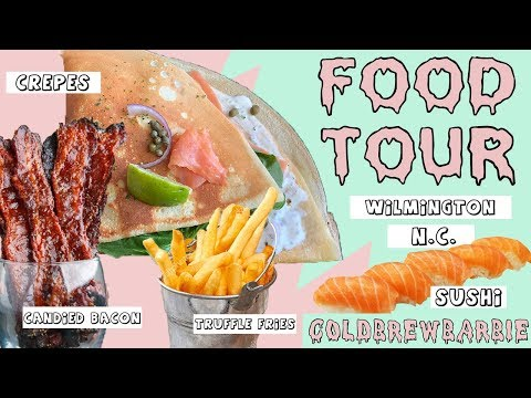 Food Tour | Wilmington, NC | Candied Bacon, Truffle Fries, Crepes And More....