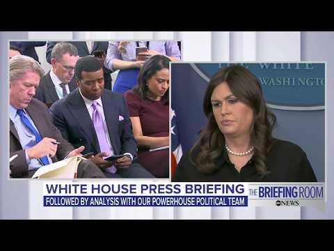 White House press briefing on Mueller investigation, DACA, Immigration reform