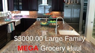$3000.00 +  Large Family Grocery Haul | Pantry & Freezer Stock Up