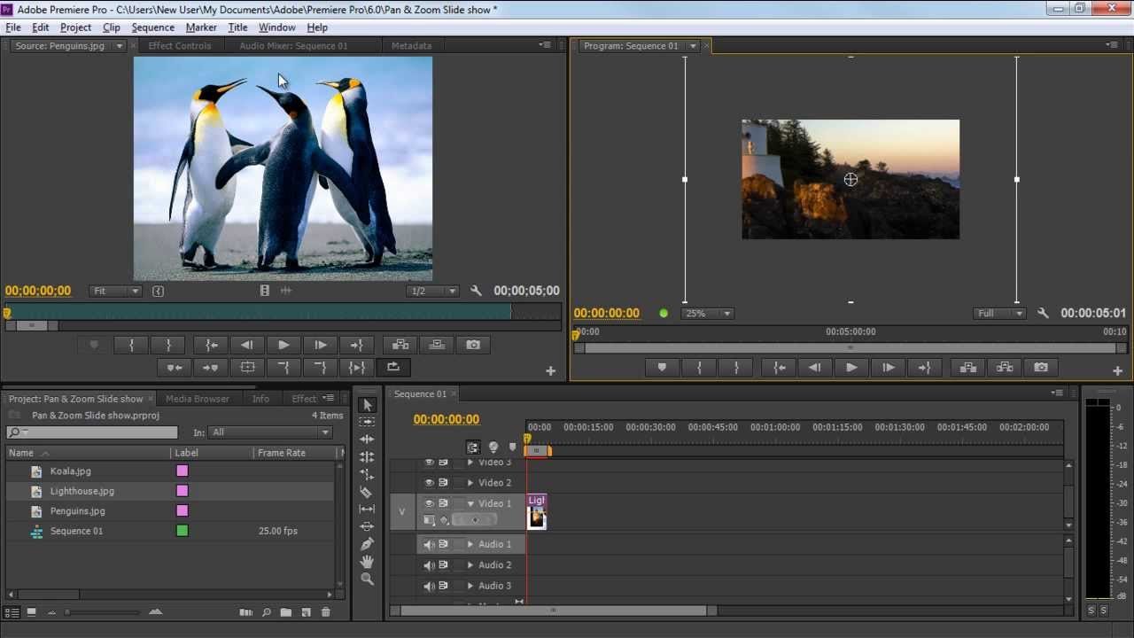 How to make a slideshow in adobe premiere youtube how to make a slideshow in adobe premiere ccuart Image collections