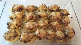 308 - КУЛИНАРИЯ. Картофель, запеченный с грибами, курицей и сыром