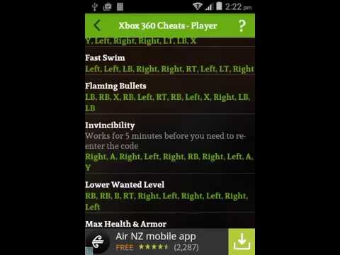 GTA 5 Cheats App Demo Easy GTA Cheater Android YouTube