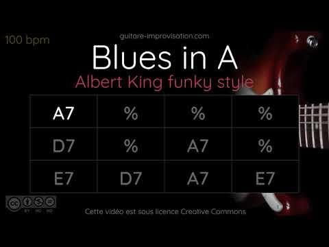 Blues in A / Albert King Funky Style // 100 bpm