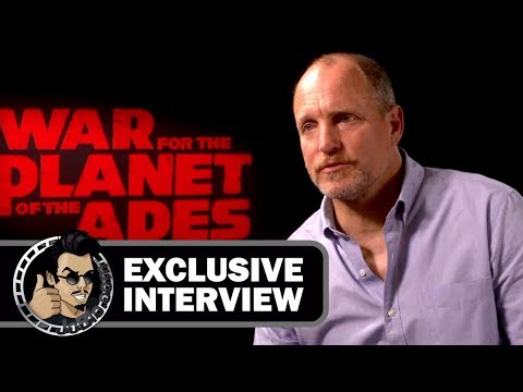 Woody Harrelson Exclusive Interview for WAR FOR THE PLANET OF THE APES (2017)