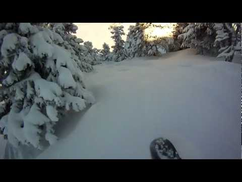 Freeride Chamrousse Snowboard with GoPro