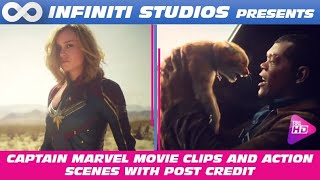 Captain Marvel Clips and Fight Scenes in HD Quality | Nick Fury Eye Scene  | Ronan's Fleet Destroyed