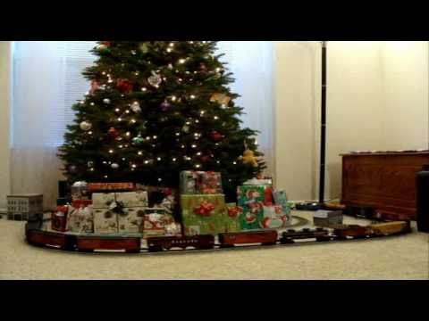 lionel o scale trains around the christmas tree 2010
