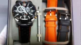 Men's Black Nautica NCS Chronograph Box Set Watch N22564G
