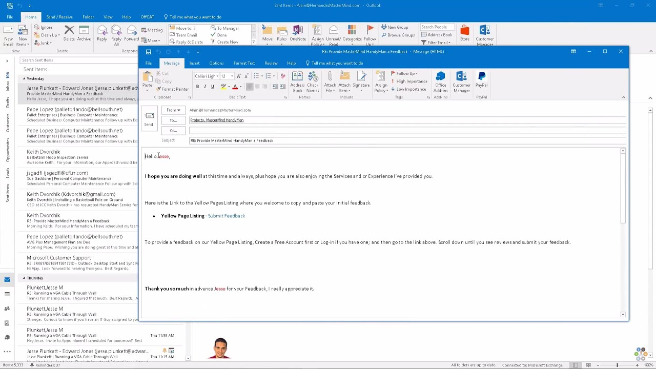 Create Email Template in Outlook - YouTube