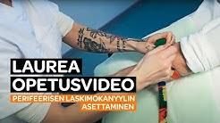 Opetusvideo sairaanhoitajaopiskelijoille perifeerisen laskimokanyylin asettamisesta