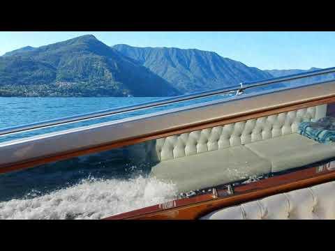 italian water taxi at como italy youtube