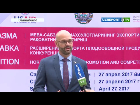 """UzReport TV news: Business Forum """"Horticulture Export Promotion and Competition Development"""""""