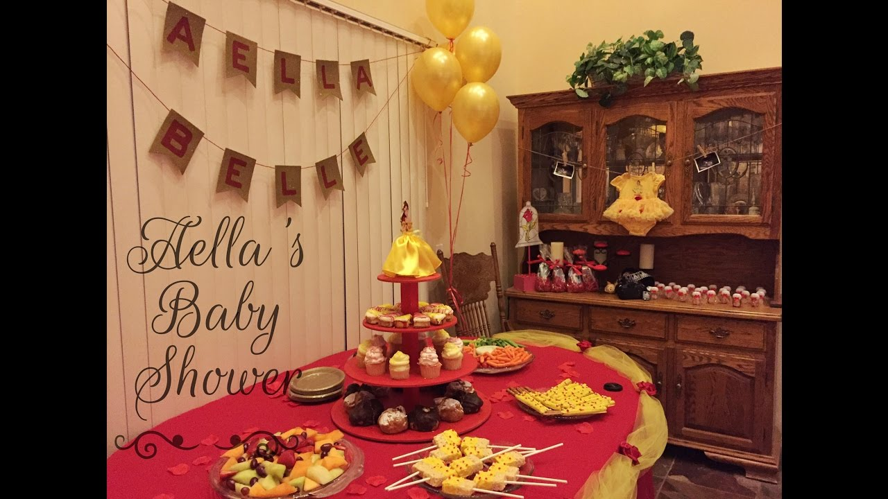 Aellau0027s Baby Shower! Beauty And The Beast Theme