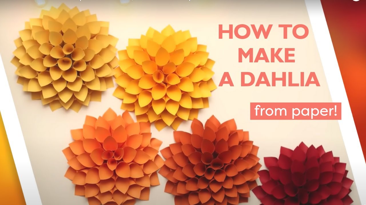 Diy Giant Paper Dahlia Hgtv Handmade Youtube