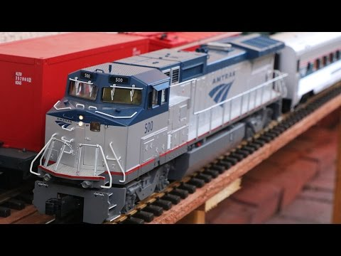 Big Model Trains:  Amtrak Passenger Train in G-Scale