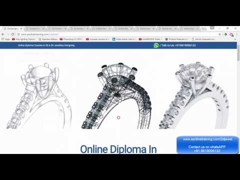 Online Jewellery Designing Courses Cad Cam Free Demo Class Youtube
