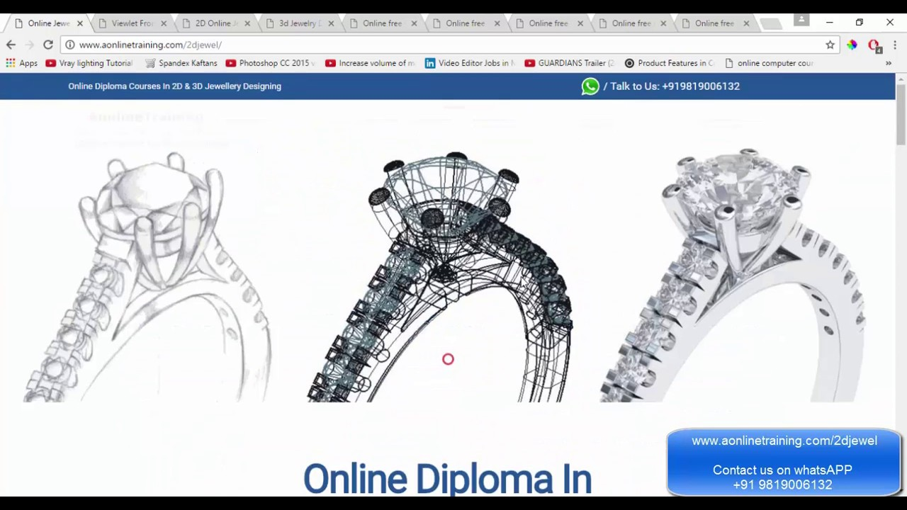 Online Jewellery Designing Courses CADCAM Free Demo Class YouTube