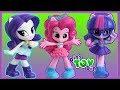 NEW My Little Pony CHIBI Equestria Girls - Rarity, Pinkie Pie and Twilight Sparkle