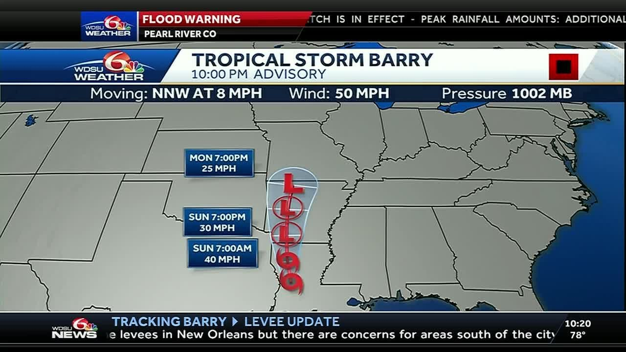 Barry continues to move north