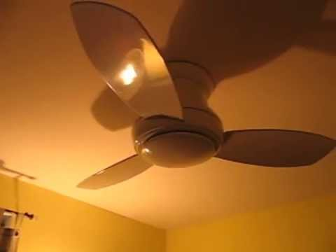 ceiling fan 44 inch. Review Minka-Aire F518-WH 44-inch Concept II Flush Mount Ceiling Fan White With Blades 44 Inch