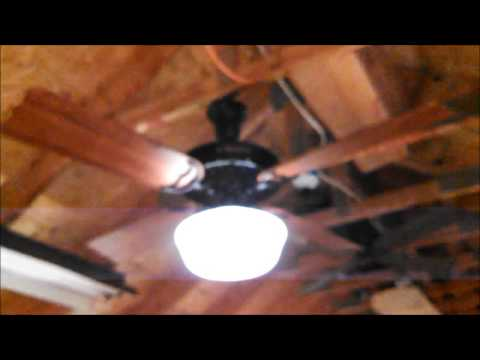Hunter Hotel Original Ceiling Fan model 52-H/23702 unboxing/testing