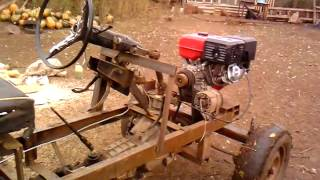 самодельный мини трактор(привёз дровишки., 2013-10-02T10:27:33.000Z)