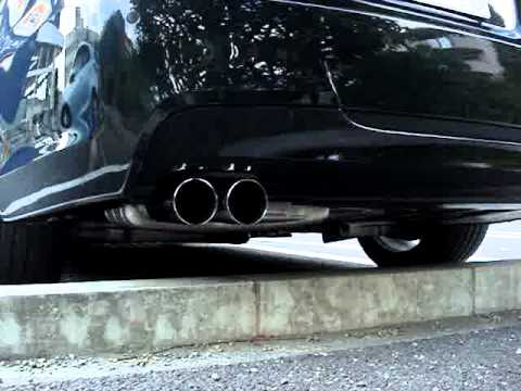 bmw e90 320si exhaust sound with performance muffler youtube. Black Bedroom Furniture Sets. Home Design Ideas