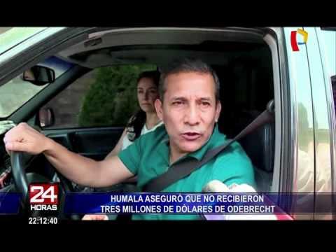 Ollanta Humala aseguró que no recibieron US$3 millones de Odebrecht