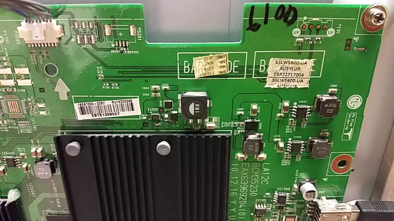 Functionality proof LG 55LW5600-UA AUSYLUR main EBT61398007 for ProConnect
